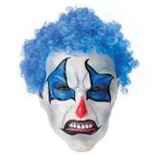 Blue Clown Horror Mask